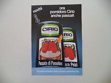 advertising Pubblicità 1977 CIRIO PELATI/PASSATA DI POMODORO