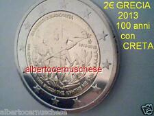 2 euro 2013 fdc Grecia Grece Griechenland Greece 100 anni CRETA Crete Kreta
