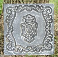 Shield plastic mold plaster concrete casting plaque mould
