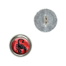 Scorpion on Red - Bug Insect Venom Poisonous - Sewing Novelty Buttons Set of 4