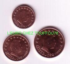 Pièces de 1,2,5cts euros du Luxembourg 2011.