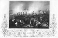 PENINSULAR WAR SIEGE OF CIUDAD RODRIGO WELLINGTON ~ Old 1853 Art Print Engraving