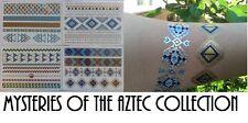 4 x Aztec Collection flash de bijoux inspirée festival art corporel  tatouages