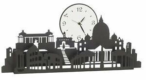 Orologio da parete moderno in ferro città  Mod. Roma  Design Arti e Mestieri