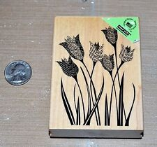 Hero Arts Wood Mounted *Newspaper Tulip Stamp* - *New*