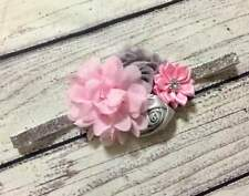 Pink/Gray/ Silver Glitters Baby/Toddler/ Girl Headband
