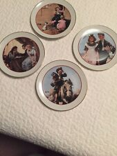 """Norman Rockwell Set of Four(4) Plates 6.5"""" Young Love Series Cw Collection 1982"""