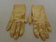 Vintage Hansens Matallic Gold Womans Gloves