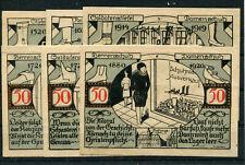 Weissenfels 6 Scheine Notgeld .............................................z1885