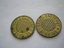 New listing Two c 1970 Broad Causeway Bay Harbor Isles Fl 20mm Brass No Dots Tc173243 Ac 60C