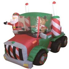 Outdoor Self Inflatable Xmas Decor Blow Up Large Santa Claus Truck Reindeer Kids