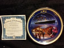 """Antique """"Grand Staircase"""" Titanic Queen of the Ocean authentic plateware #1489A"""