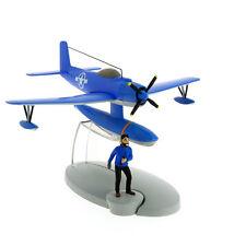 Avion Tintin #4 Hydravion bleu coke en stock & Haddock.