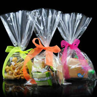 100pcs/set Clear Party Gift Chocolate Lolli Favor Candy Cello Bags Cellophane Gi