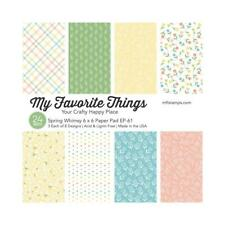My Favorite Things Spring Whimsy Single-Sided Paper Pad 6x6, 24Pc, March 2020
