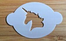 Face paint stencil reusable washable unicorn head Mylar 2.5 in x 1.75