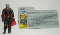 1988 GI Joe Iron Grenadiers Cobra Destro v2 Gold Head  Figure w/ File Card