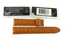 MONTBLANC CALF LEATHER HONEY ALLIGATOR GRAIN STRAP BAND MED BUCKLE 5638 #28
