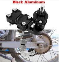 Black Aluminum Adjuster Chain Tensioner Bolt On Roller For Motorcycle Scooter