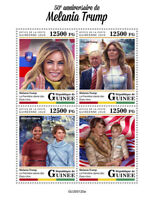 Guinea Donald Trump Stamps 2020 MNH Melania Famous People US Presidents 4v M/S