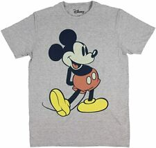 Disney Park Giant Mickey Mouse Gray Graphic Tee Shirt New
