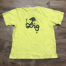 Lifted Research Group Core Collection T-Shirt Mens Size 2XL Yellow LRG Clothing