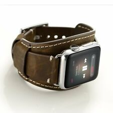 iWatch Band Series 3 Series 2 Series 1 Genuine Leather Band Bracelet 42mm Coffee