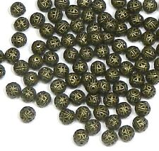 100 Antiqued Brass Plated 6mm Open Weave Spacer Beads