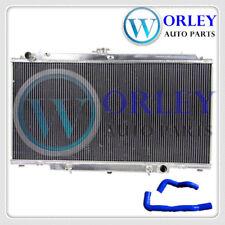 Aluminum radiator + Blue Hose for Nissan GU PATROL Y61 petrol 4.5L Auto 1997+