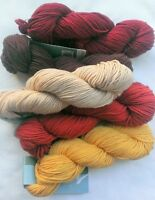 PLYMOUTH SELECT DK Merino Superwash - 2 Colors Left - 1102 Beige/1107 Brick