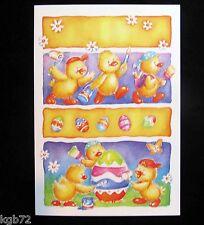 Leanin Tree Easter Greeting Card Chicks Peeps Eggs Multi Color E6