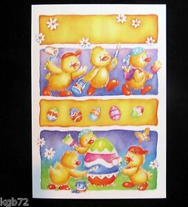 Leanin Tree Easter Greeting Card Chicks Peeps Eggs Multi Color E6