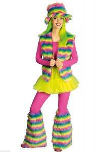 70er 80er Jahre Weste Kostüm Hut Stulpen Damen Hippie Hippy Hippiekostüm Party