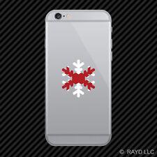 Alabama Snowflake Cell Phone Sticker Mobile AL snow flake snowboard skiing skii