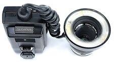 Olympus OM Zuiko 50mm f/3.5 Auto Macro MF Lens + T10 Macro Flash Combo w/ Case