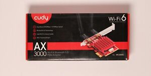 "Cudy AX3000 Dual Band Wifi 6 Bluetooth 5.0 PCIe Adapter ""New"""