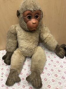 "21"" Vintage Plush Monkey With Rubber Face.unknown Age & Brand."