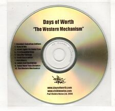 (GV2) Days Of Worth, The Western Mechanism - 2004 DJ CD