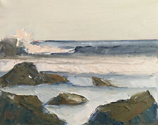 PACIFIC SPRING FOUR Original Expression Seascape Oil Painting 8x10 041820 KEN