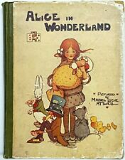 1910 1st Edition ALICE IN WONDERLAND Antique MABEL LUCIE ATTWELL Shelley Cup Art