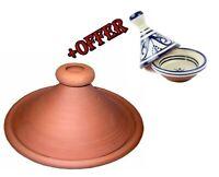 WM-Z Tagine Original Moroccan Handmade Lead-Free Clay Enameled Cast Iron Tagine Pot with Ceramic Cap 26cm Tagine Cooking Pot,Green