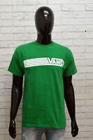 Maglia Uomo Vans Taglia M Cotone Verde Man T-Shirt Maglietta Manica Corta Cotton