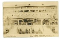 RPPC Central Portico Hotel HERSHEY PA Dauphin County 1934 Real Photo Postcard