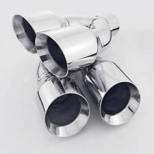 """1 Pair QUAD 4"""" Outlets Stainless Steel Exhaust Tips 2.5"""" ID for AUDI S3 S4 S5 S6"""