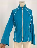 RALPH LAUREN - WOMEN'S SIZE LARGE - BLUE FULL ZIP ACTIVE WEAR JACKET