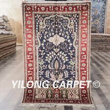Yilong 3'x5' Tree Of Life Handmade Carpets Home Hand Knotted Silk Rug Store 322B