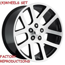 "(4) 24"" SRT10 Style Fits 2002 - Up Dodge Ram 1500 Wheels Rims Machined Black"