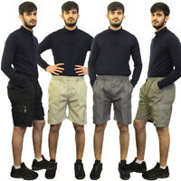 Mens Elasticated Waist Gym Cotton Casual Combat Cargo Shorts Summer Half Pants
