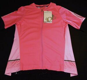 NWT Pearl Izumi Elite Pursuit Bicycle Bike Cycling JERSEY Women XL Screamin Pink