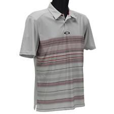 Oakley High Crest Polo Mens Size XXL Red Line Grey Golf Casual Regular Tee Shirt